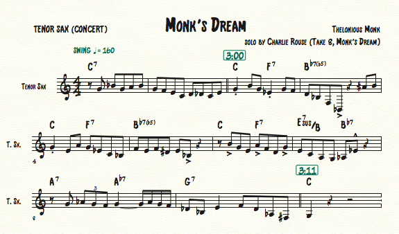 Monk's Dream, Charlie Rouse_C