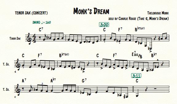 Monk's Dream, Charlie Rouse_C