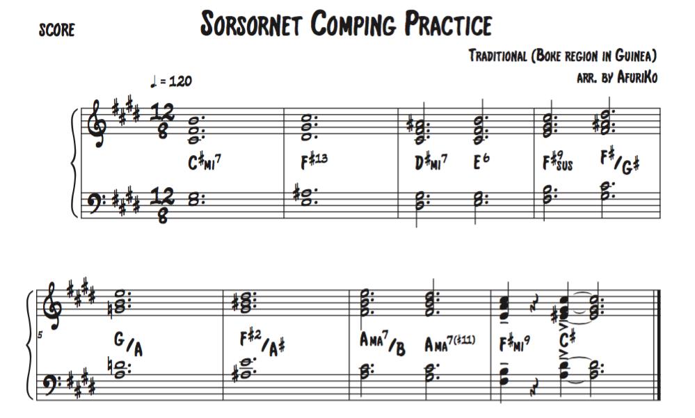 Sorsornet comping practice